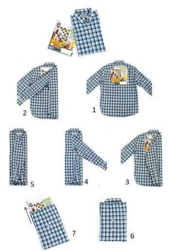 4019b4ad823b3b3 Как сложить мужскую рубашку. Для начала рубашку необходимо вывернуть на  лицевую сторону и застегнуть все пуговицы спереди и на рукавах.