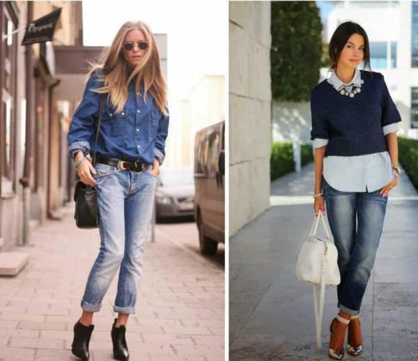 2e46c66e549 Как заправить длинную рубашку в джинсы девушке – как можно красиво ...