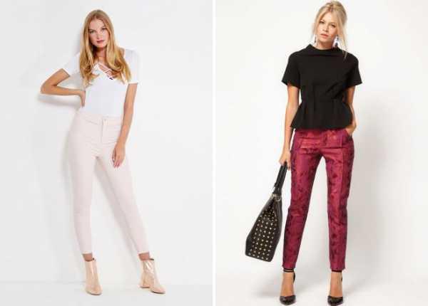 dd76927521f Так, в тренде находятся классические зауженные брюки универсальных цветовых  оттенков, укороченные модели, изделия с цветочными узорами и принтами и  многое ...